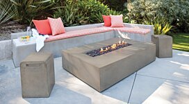 Flo Fire Pit Table - In-Situ Image by Brown Jordan Fires