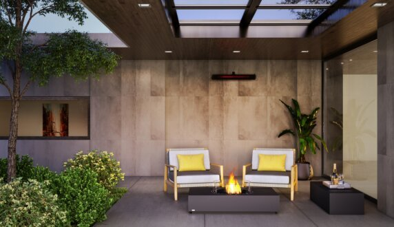 Courtyard - Martini 50 Radiant Heater by EcoSmart Fire