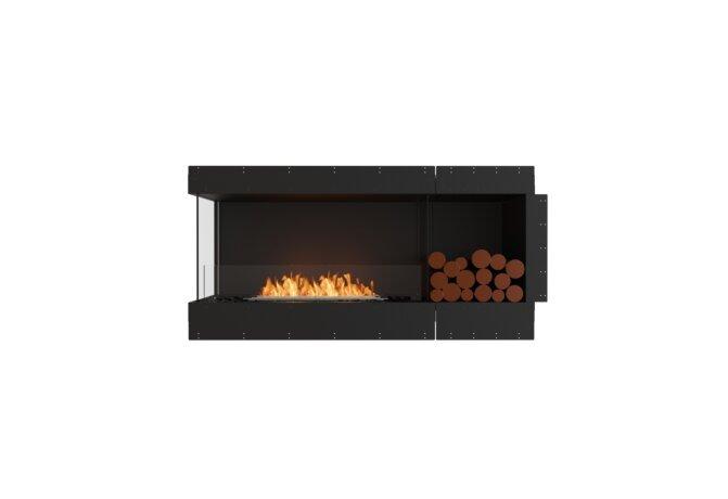 Flex 60LC.BXR Left Corner - Ethanol / Black / Uninstalled View by EcoSmart Fire