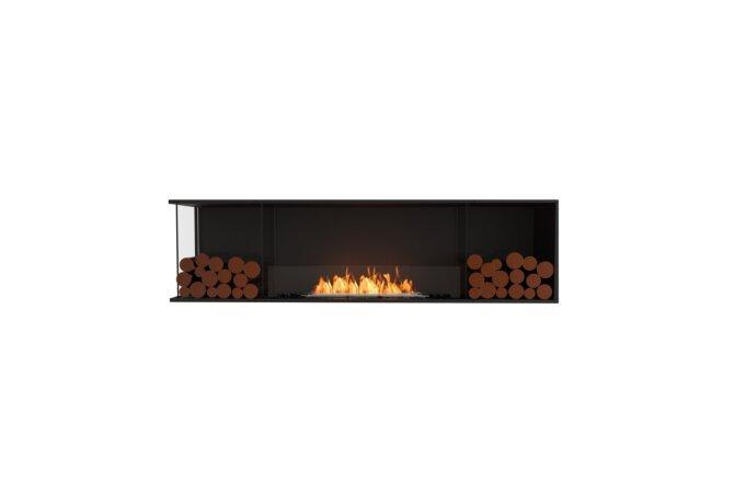 Flex 78LC.BX2 Left Corner - Ethanol / Black / Installed View by EcoSmart Fire