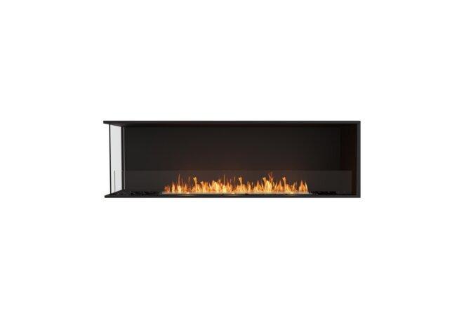 Flex 68LC Left Corner - Ethanol / Black / Installed View by EcoSmart Fire