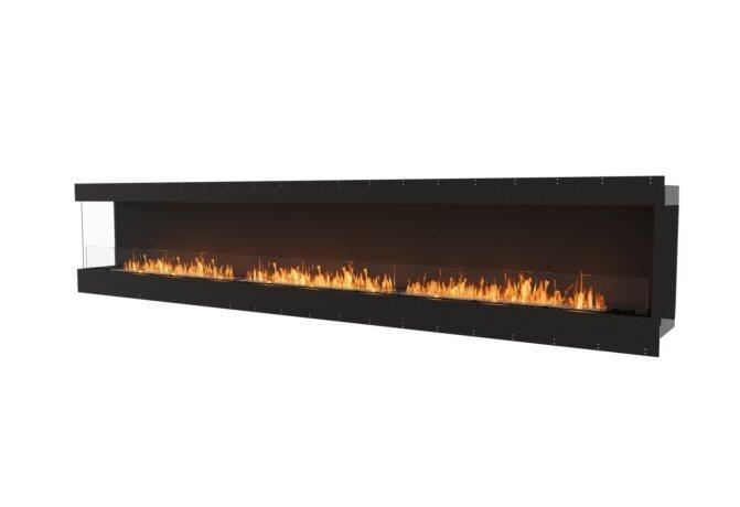 Flex 158LC Left Corner - Ethanol / Black / Uninstalled View by EcoSmart Fire