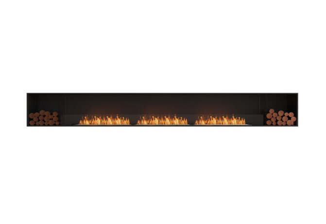 Flex 158SS.BX2 Single Sided - Ethanol / Black / Installed View by EcoSmart Fire