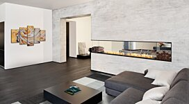Flex 140PN.BXL Fireplace Insert - In-Situ Image by EcoSmart Fire