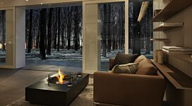 Martini 50 All Black  - In-Situ Image by EcoSmart Fire