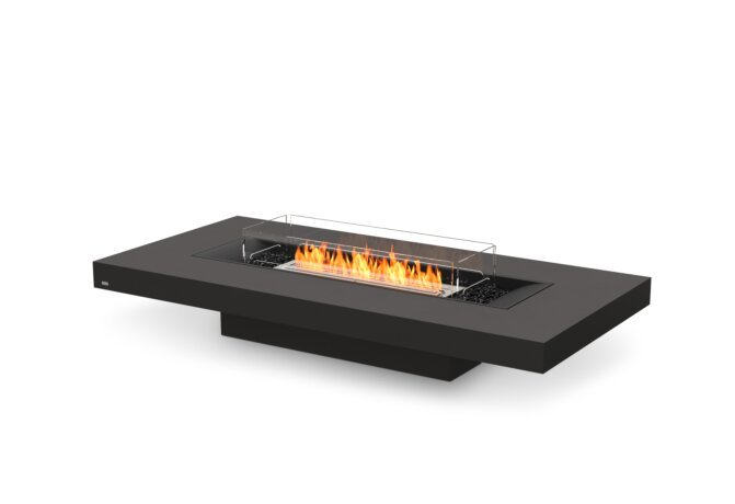 Gin 90 (Low) Fire Pit - Ethanol / Graphite / Optional Fire Screen by EcoSmart Fire