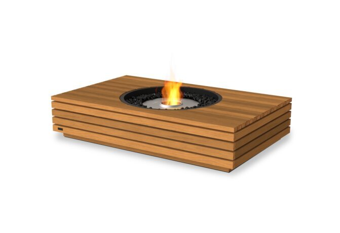 Martini 50 Fire Pit - Ethanol / Teak by EcoSmart Fire