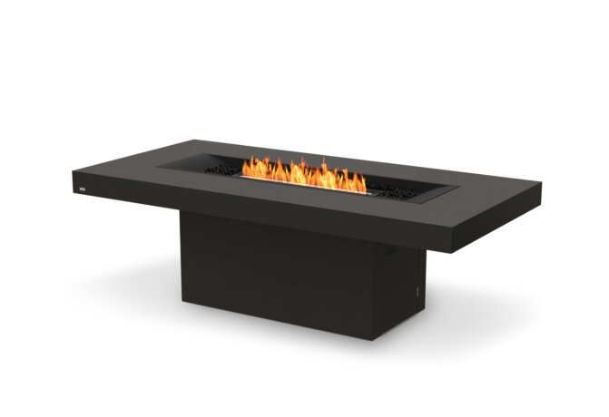 Gin 90 (Dining) Fire Pit - Ethanol - Black / Graphite / Optional Fire Screen by EcoSmart Fire