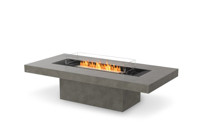 Gin 90 (Chat) Fire Pit - Ethanol - Black / Natural / Optional Fire Screen by EcoSmart Fire