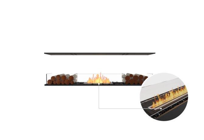 Flex 68IL.BX2 Island - Ethanol - Black / Black / Installed View by EcoSmart Fire
