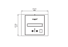 BK2UL - Technical Drawing / Top by EcoSmart Fire