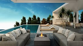 Manhattan Fire Pit Table - In-Situ Image by EcoSmart Fire