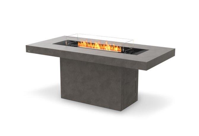 Gin 90 (Bar) Fire Pit - Ethanol - Black / Natural / Optional Fire Screen by EcoSmart Fire